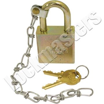 """Picture of American A5200 Series Padlock  1-1/8"""" Shackle with Chain Keyed Different"""