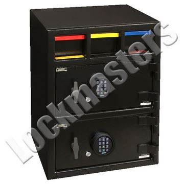 "Picture of AMSEC ""B"" Rated Money Manager Series Under Counter Two Door Depository Safes"