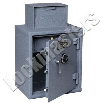 """Picture of Gardall 33 1/4"""" W x 22""""H x 17"""" D Heavy Duty Cash Register Safe with S&G Mechanical Lock"""