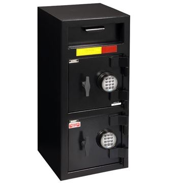 """Picture of AMSEC 32-1/4"""" H x 14"""" W x 14"""" D Depository Safe  with Multi Door & ESL10 Electronic Safe Locks"""