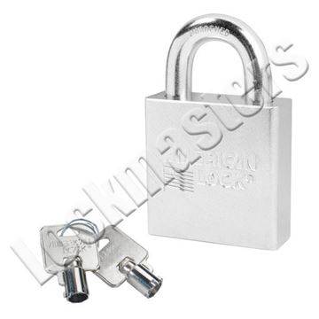 """Picture of American A7300 Series Solid Steel Rekeyable Tubular Cylinder Padlock - 2-1/4"""" Wide"""