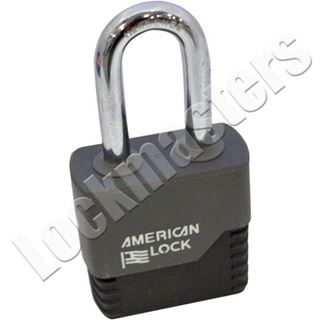 "Picture of American Padlock A3261 Weatherbuilt Solid Steel IC Padlock; 1-3/4"" Body with 2"" Shackle"