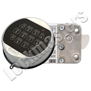 Picture of LaGard Basic II Electronic Safe Lock Package; Swing Bolt - Satin Chrome Finish