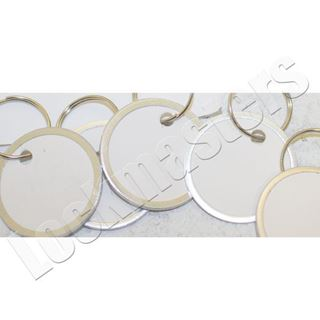 "Picture of 1-1/4"" Ring White Paper Tags, 25 per Box"