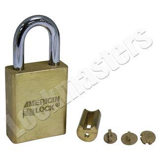 Picture of American Solid Brass Door Key Compatible Padlock