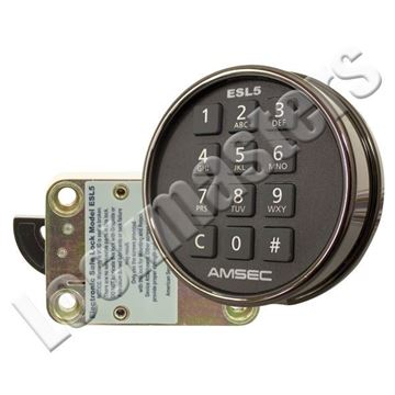 Picture of AMSEC  Electronic Combination Swingbolt Lock - Black Nickel Keypad