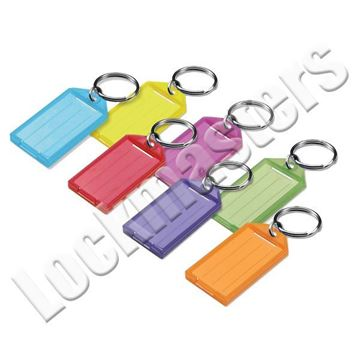 Picture of ID Key Tag with Flap & Split Ring - Assorted Colors, Box of 100