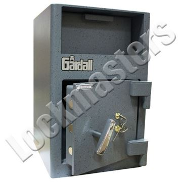 "Picture of Gardall 10 1/2"" H x 10 3/4"" W x 10 3/4"" D Single Door Depository with Dual Key Locking"