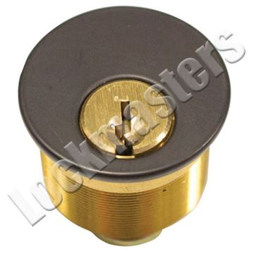 "Picture of Ilco 1"" Mortise Cylinder; Oil Rubbed Bronze"