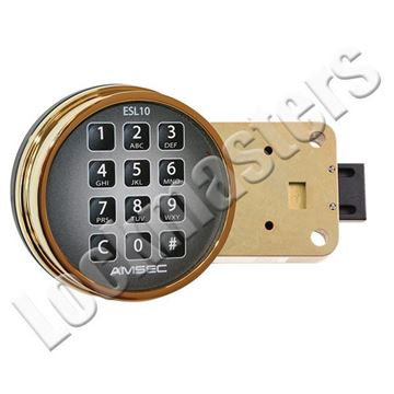 Picture of AMSEC 10XLB Electronic Combination Safe dead bolt Lock - Brass Keypad