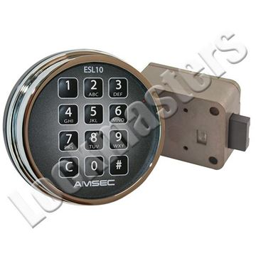 Picture of AMSEC 10XLS Electronic Combination Safe Dead Bolt Lock - Chrome Keypad