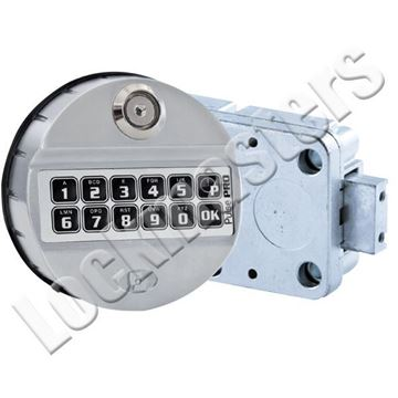 Picture of Tecnosicurezza Pulse Pro Straight Bolt Vault Lock Package; Satin Chrome Keypad