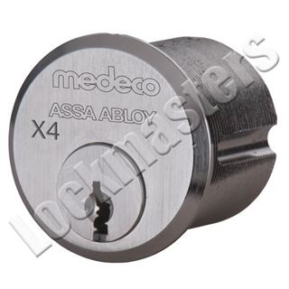 """Picture of MEDECO X4 1-1/8"""" Mortise Cylinder: DBK Keyway: Dark Bronze"""