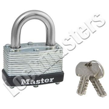 """Picture of Master Lock Model 500 1-3/4"""" Laminated Steel Warded Padlock"""