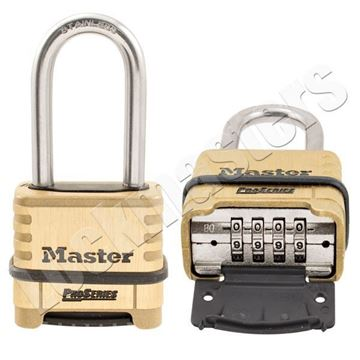 """Picture of Master 2-1/4"""" (57mm) Wide ProSeries Resettable Combination Padlock,  Brass"""
