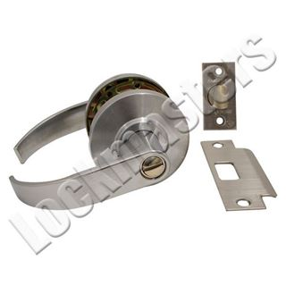 Picture of Dexter C2000 Series Grade 2 Privacy Cylindrical Lock; Curved Trim; Satin Chrome