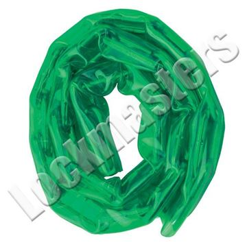 Picture of Master Lock 3' Hardened Steel Vinyl Chain: Green