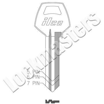 Picture of Ilco Corbin Russwin 1001 6 Pin Key Blank; Keyway EH; EZ CO88