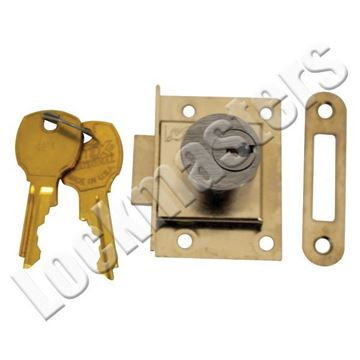 Picture of CompX National Drawer Deadbolt Lock; Dull Chrome