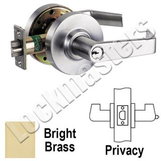 Picture of Arrow RL Series Privacy Cylindrical Lever Lock; Bright Brass