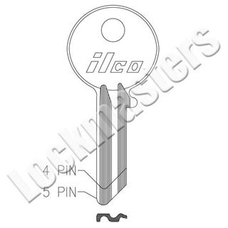 Picture of Ilco Yale 4 Pin Cabinet Lock; EZ Y5