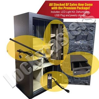 Picture of AMSEC BF Series 6030 Gun Safe with Premium Upgrade Package; Textured Granite