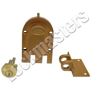 Picture of Dormakaba Single Cylinder Jimmyproof Deadbolt Lock: Bronze Lacquer