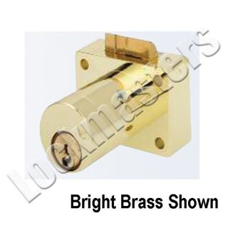 """Picture of ASSA ABLOY E850AS Model Twin Exclusive 1-3/8"""" Deadlocking Latch Cabinet Lock"""