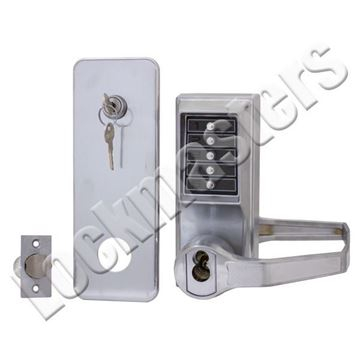 Picture of Kaba Simplex L1000 Series Mechanical Pushbutton Lever Lock: Satin Chrome