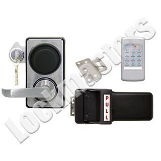 Picture of LKM10K Type I Push Pull Handle Model with Kaba Mas X-10; #1 Strike; SDC 920 Access Control Keypad