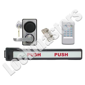 Picture of LKM10K Type III Panic Bar Model with Kaba Mas X-10; #2 Strike; SDC920 Access Control