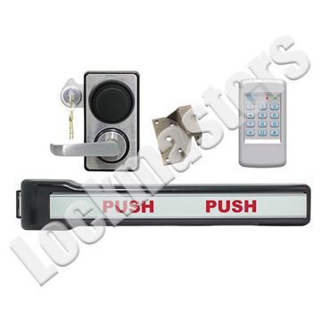 Picture of LKM10K Type III Panic Bar Model with Kaba Mas X-10; #9 Strike; SDC 920 Access Control