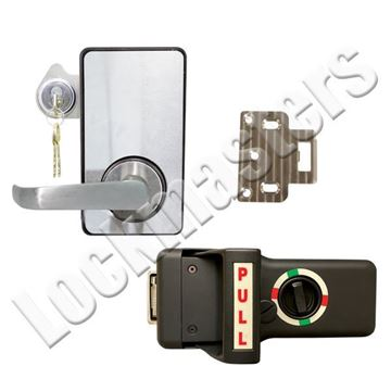Picture of LKM10K Type VII Push Pull Lock Package with Lock Down Cylinder; #1 Strike