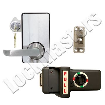 Picture of LKM10K Type VII Push Pull Handle Model with Lock Down Feature; #2 Strike