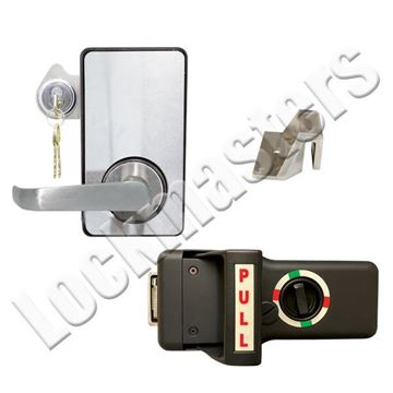 Picture of LKM10K Type VII Push Pull Handle with Lock Down Feature; #9 Strike