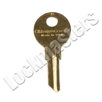 Picture of Chicago Key Blank SGL sided: Brass