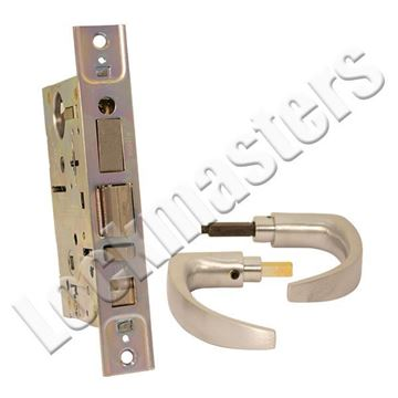 Picture of Best 7-Pin Curved Return Standard Office Lever Lock: Satin Chrome