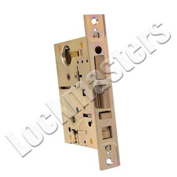 Picture of Best Case only mortise lock* Core Housing: 7 pin housing accepts all BEST cores; Satin Chrome