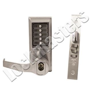 Picture of Dormakaba Mechanical Mortise Pushbutton Lock: Satin Chrome