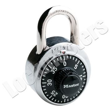 """Picture of Master Lock 1-7/8"""" Security Combination Padlock: 3/4"""" Shackle: Black"""