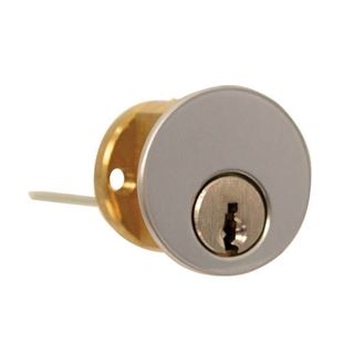 Picture of Dormakaba Rim Cylinder Lock: 6-Pin: Satin Chrome