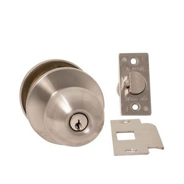 Picture of Cal-Royal Barrington Grade 2 Knob Lockset: Classroom: Satin Stainless Steel