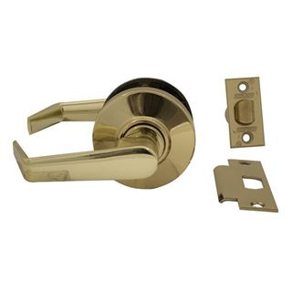Picture of Schlage AL Series Cylindrical Lock; Passage; Saturn Lever; Bright Brass
