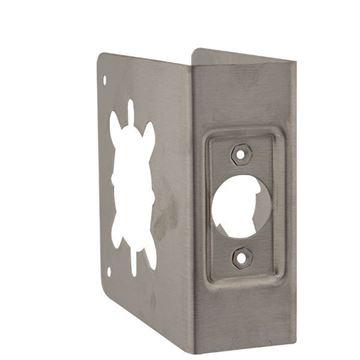 """Picture of Don Jo 4-3/4"""" x 4-1/2"""" Wrap Around for Grade 1 & 2 Lever Locks; Satin Stainless Steel"""