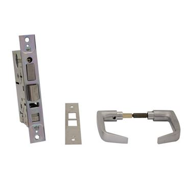 Picture of Best 7-Pin Contour Angle Return Standard Office Lock: Satin Chrome