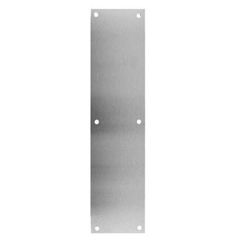 """Picture of Don Jo .050 Push Plate 4"""" X 16"""": Stainless Steel"""