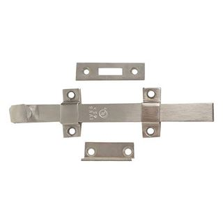 """Picture of IVES SB453 12"""" Surface Bolt with Top & Bottom Strike: Zinc Plated"""