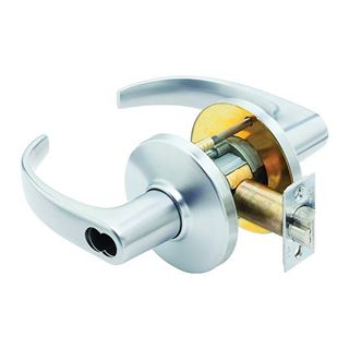Picture of Best 9K Series Cylinder Lock and Lever Set: Storeroom: Satin Chrome