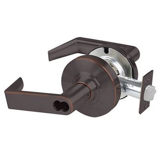 Picture of Schlage ALX Series Grade 2 Classroom Cylindrical Lock; Rhodes Lever; Aged Bronze