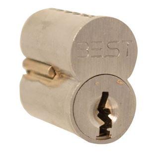 Picture of Best 1C 6 Pin Core, Access Original Keyway L: Satin Chrome
